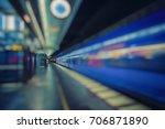Fast Train Passing Subway...