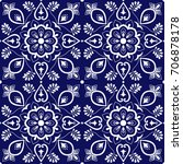 tile mexican pattern vector...   Shutterstock .eps vector #706878178