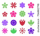 flower icon collection in flat... | Shutterstock .eps vector #706882798