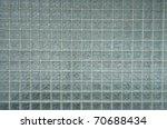 old glass brick wall - stock photo