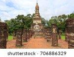 sukhothai   thailand  city... | Shutterstock . vector #706886329