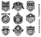 set of american basketball team ... | Shutterstock .eps vector #706888948