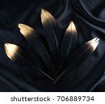 set of luxury gilded gold... | Shutterstock . vector #706889734