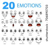 set of emotions.isolated... | Shutterstock .eps vector #706890703