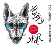 hand drawn vector illustration... | Shutterstock .eps vector #706894003