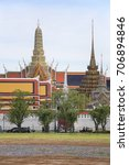 wat phra kaew buddhism church... | Shutterstock . vector #706894846