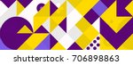simple banner of decorative... | Shutterstock .eps vector #706898863