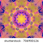 digital abstract multicolored... | Shutterstock . vector #706900126
