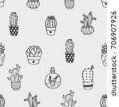 seamless vector pattern with...   Shutterstock .eps vector #706907926