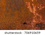 rusted metal iron old color red ... | Shutterstock . vector #706910659