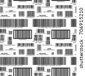 different black barcodes on... | Shutterstock .eps vector #706915210