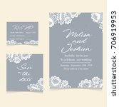templates of invitation lace... | Shutterstock .eps vector #706919953