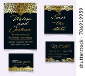 templates of invitation lace... | Shutterstock .eps vector #706919959