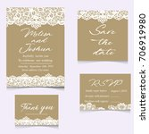 templates of invitation lace... | Shutterstock .eps vector #706919980