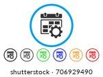 calendar settings gear vector... | Shutterstock .eps vector #706929490