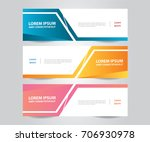 set of  banner template. modern ... | Shutterstock .eps vector #706930978
