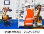 engineer install and testing... | Shutterstock . vector #706936240