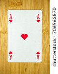 Small photo of Playing cards: Ace of Hearts