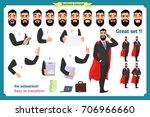 set of super businessman... | Shutterstock .eps vector #706966660