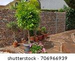 gabione  fence  gates  wall | Shutterstock . vector #706966939