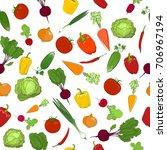 seamless pattern of fresh... | Shutterstock . vector #706967194