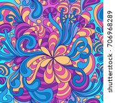 seamless pattern with colorful... | Shutterstock .eps vector #706968289