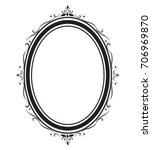 oval frame and borders black... | Shutterstock .eps vector #706969870