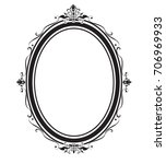 oval frame and borders black... | Shutterstock .eps vector #706969933