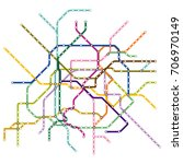 map of the paris metro  subway  ... | Shutterstock .eps vector #706970149