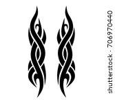 tattoo tribal vector design.... | Shutterstock .eps vector #706970440
