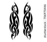 tattoo tribal vector design....   Shutterstock .eps vector #706970446