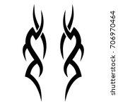 tribal tattoo art designs....   Shutterstock .eps vector #706970464