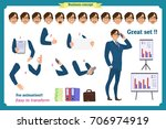 businessman character. poses... | Shutterstock .eps vector #706974919