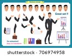 businessman character. poses... | Shutterstock .eps vector #706974958