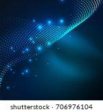 vector wave particles... | Shutterstock .eps vector #706976104