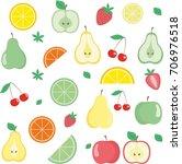 fruits and berries | Shutterstock . vector #706976518