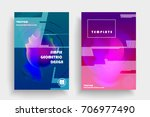 placards with abstract shapes ... | Shutterstock .eps vector #706977490