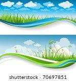 summer grass banners | Shutterstock .eps vector #70697851