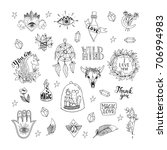 vector patch set magic love and ... | Shutterstock .eps vector #706994983