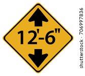 us road warning sign  low...   Shutterstock .eps vector #706997836