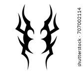 tribal tattoo art designs.... | Shutterstock .eps vector #707002114