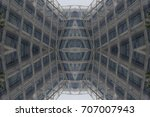 abstract modern architecture... | Shutterstock . vector #707007943