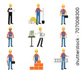 construction engineering... | Shutterstock .eps vector #707008300