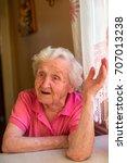 portrait of an elderly russian... | Shutterstock . vector #707013238