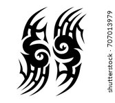 tattoo tribal vector design.... | Shutterstock .eps vector #707013979