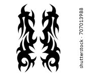tattoo tribal vector design.... | Shutterstock .eps vector #707013988