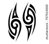 tribal tattoo art designs.... | Shutterstock .eps vector #707014000