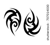 tribal tattoo art designs.... | Shutterstock .eps vector #707014030
