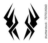 tribal tattoo art designs.... | Shutterstock .eps vector #707014060