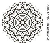 mandala. black and white... | Shutterstock .eps vector #707017090